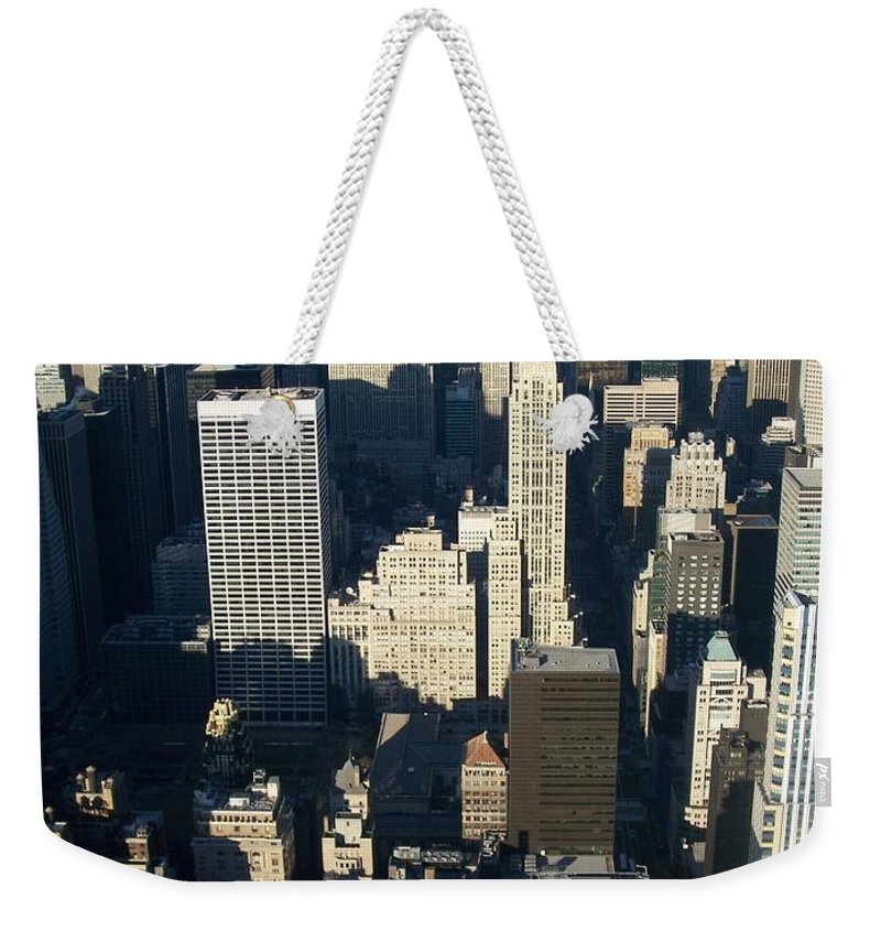 Nyc Weekender Tote Bag featuring the photograph Nyc 5 by Anita Burgermeister