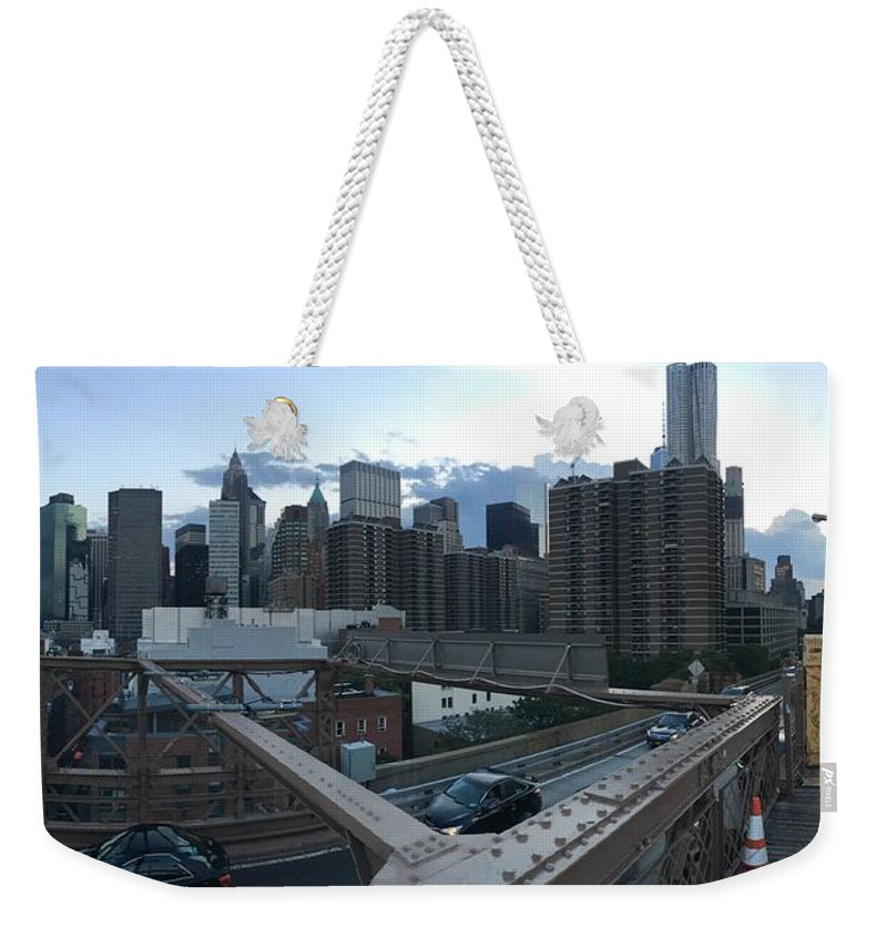Weekender Tote Bag featuring the photograph NYC by Ashley Torres