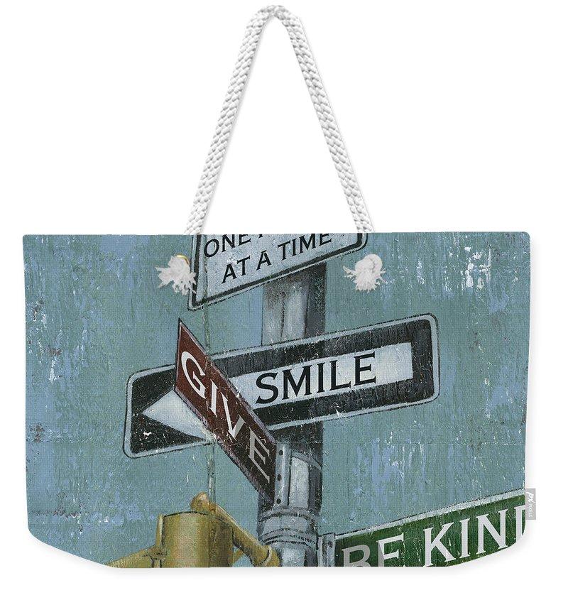 Vintage Weekender Tote Bag featuring the painting Nyc Inspiration 1 by Debbie DeWitt