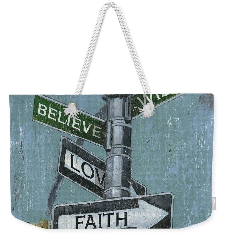 Vintage Weekender Tote Bag featuring the painting NYC Inspiration 2 by Debbie DeWitt