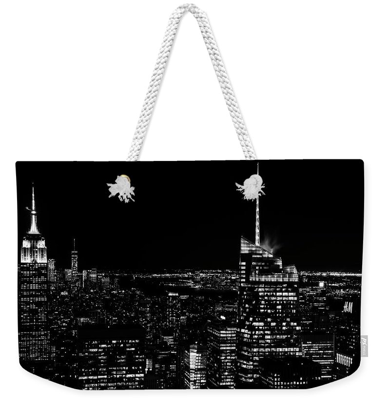 Nyc Weekender Tote Bag featuring the photograph Nyc Nights by Rand