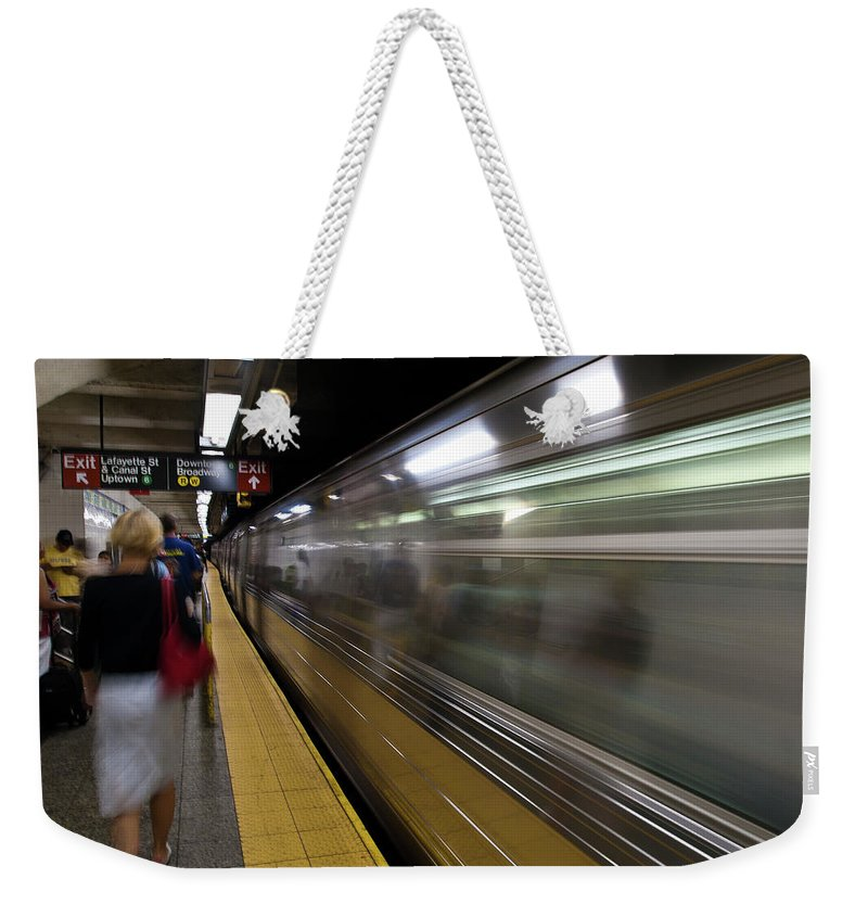 Broadway Weekender Tote Bag featuring the photograph Nyc Subway by Sebastian Musial