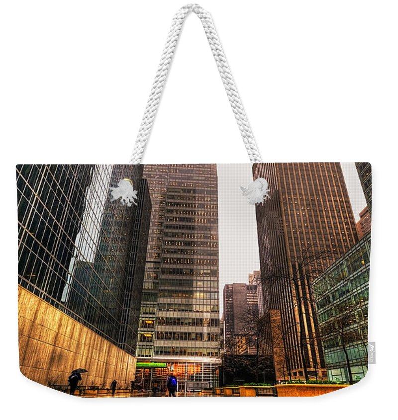 America Weekender Tote Bag featuring the photograph NYC by Svetlana Sewell
