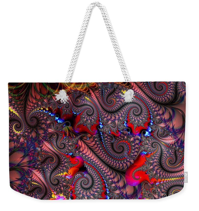 Nylon Weekender Tote Bag featuring the digital art Nylon Reinforced by Ron Bissett