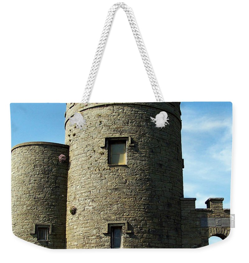 Irish Weekender Tote Bag featuring the photograph O Brien's Tower Cliffs Of Moher Ireland by Teresa Mucha