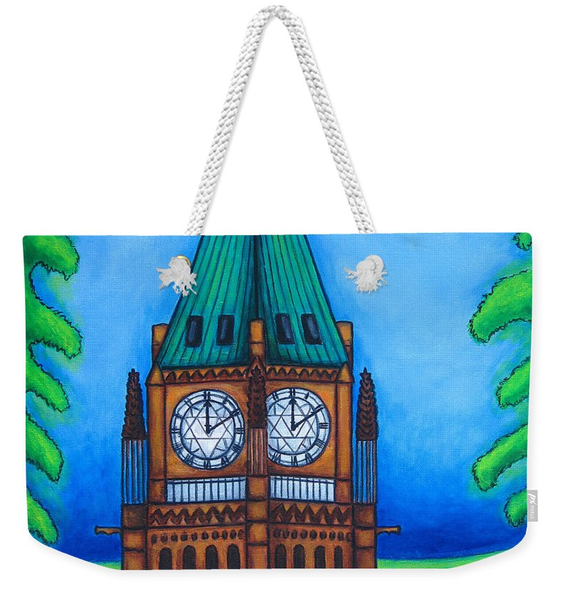 Canada Weekender Tote Bag featuring the painting O Canada by Lisa Lorenz