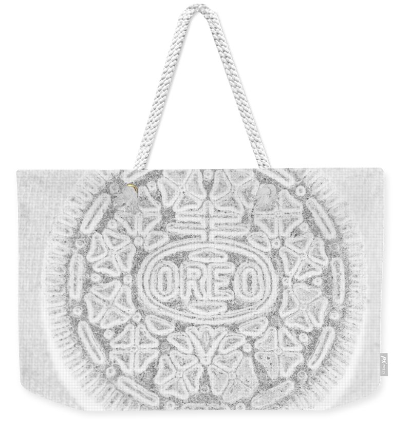 Oreo Weekender Tote Bag featuring the photograph O R E O In White by Rob Hans