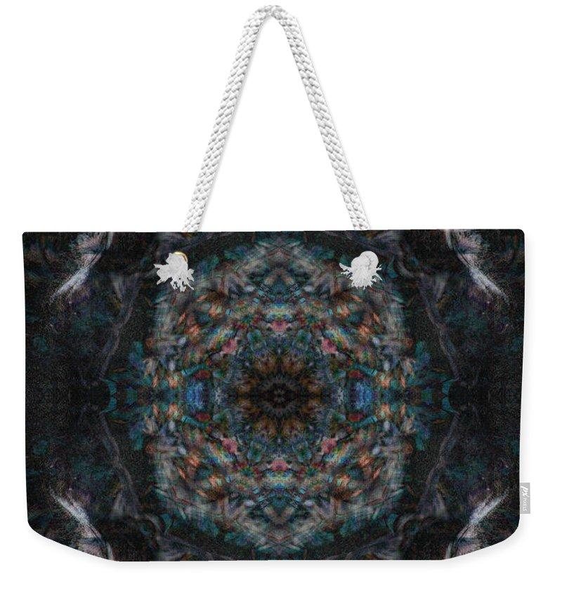 Deep Weekender Tote Bag featuring the digital art Oa-3932 by Standa1one