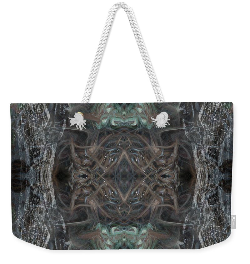 Deep Weekender Tote Bag featuring the digital art Oa-4541 by Standa1one