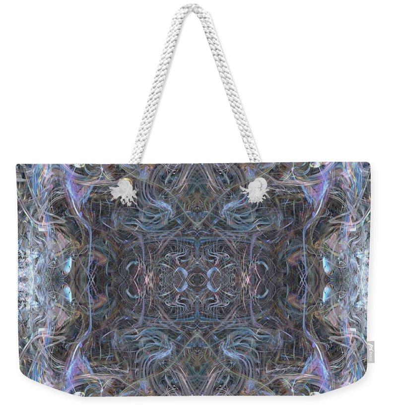 Deep Weekender Tote Bag featuring the digital art Oa-4544 by Standa1one