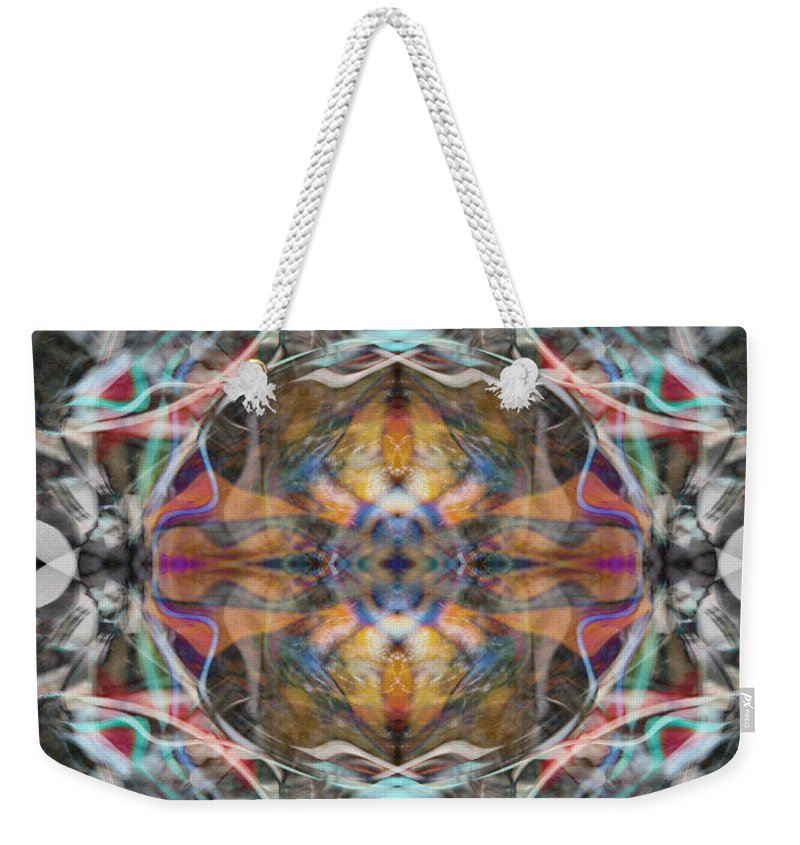 Deep Weekender Tote Bag featuring the digital art Oa-4603 by Standa1one