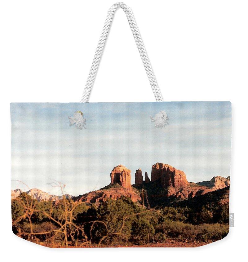 Oak Creek Canyon Weekender Tote Bag featuring the photograph Oak Creek Canyon by Lauri Novak