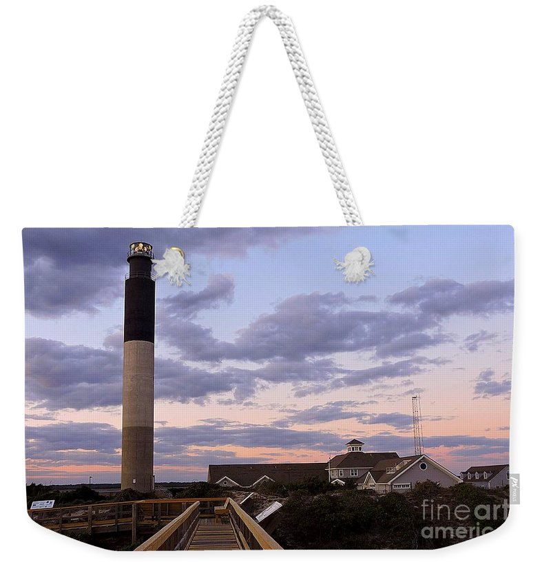 Art Weekender Tote Bag featuring the photograph Oak Island Lighthouse by Shelia Kempf