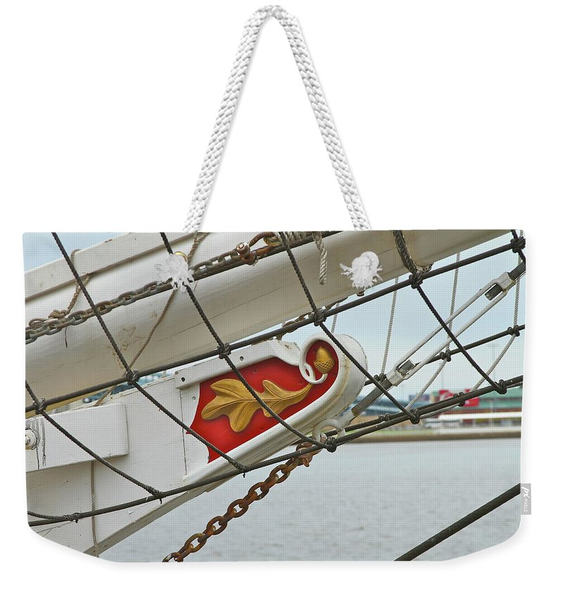 Boat Weekender Tote Bag featuring the photograph Oak Leaf by Rick Monyahan