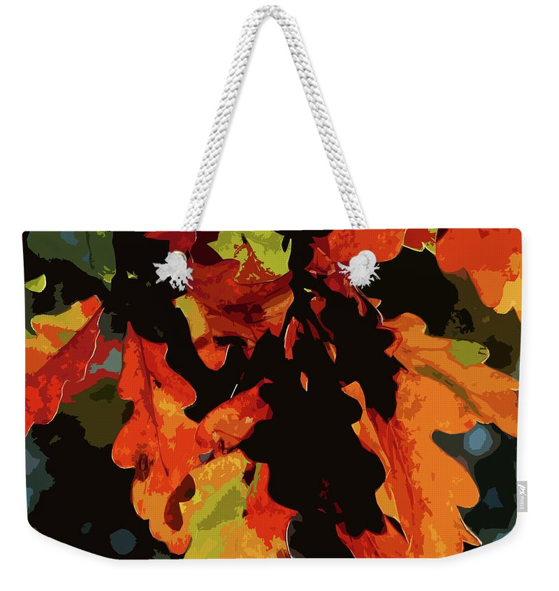 Oak Leaves Weekender Tote Bag featuring the photograph Oak Leaves In Autumn by James Hill