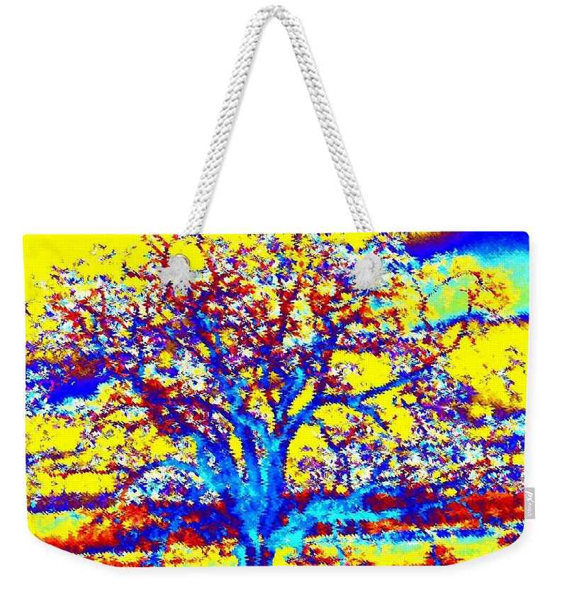 Willborden Weekender Tote Bag featuring the digital art Oak Tree by Will Borden