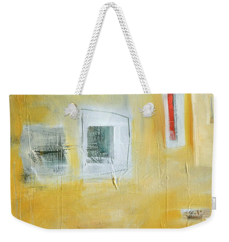 Abstract Weekender Tote Bag featuring the painting Oasis by Tim Nyberg