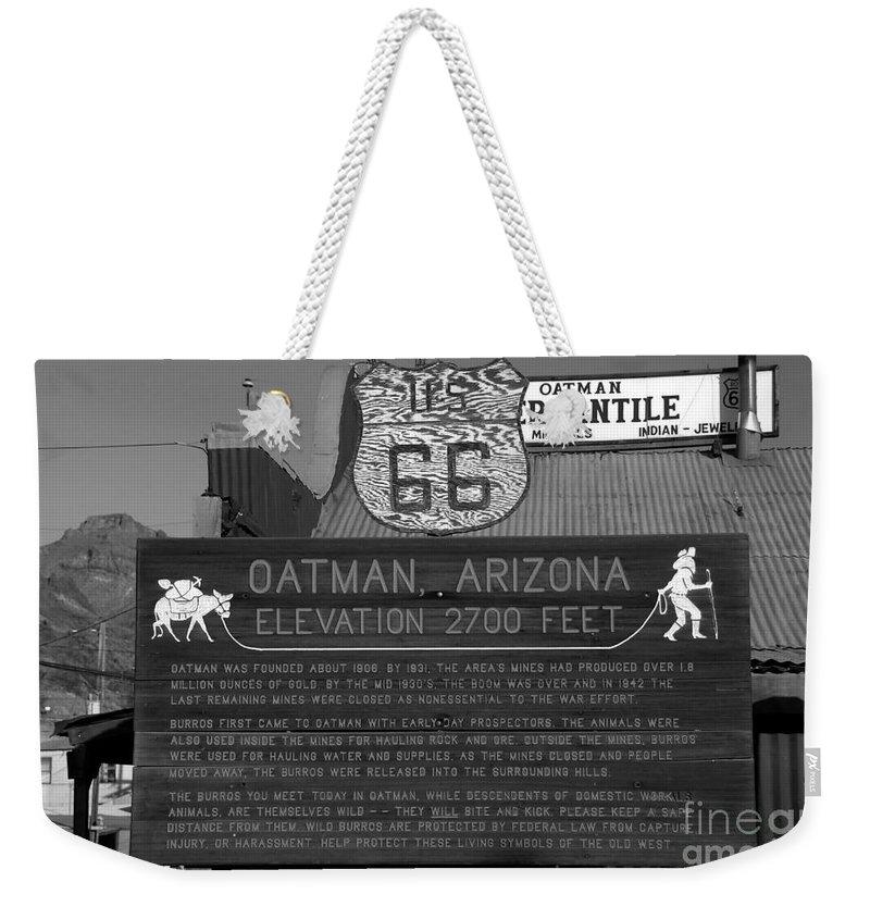 Oatman Arizona Weekender Tote Bag featuring the photograph Oatman Arizona by David Lee Thompson