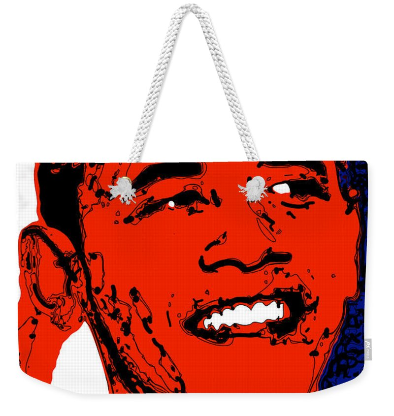 African Weekender Tote Bag featuring the digital art Obama Hope by Rabi Khan