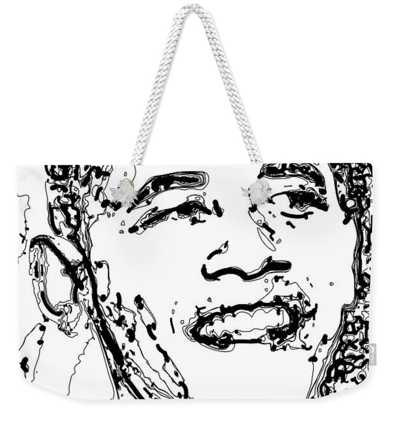 American Weekender Tote Bag featuring the digital art Obama by Rabi Khan