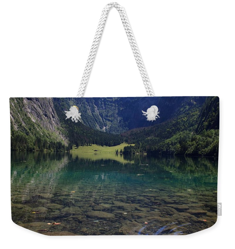 Bavaria Weekender Tote Bag featuring the photograph Obersee by Nailia Schwarz