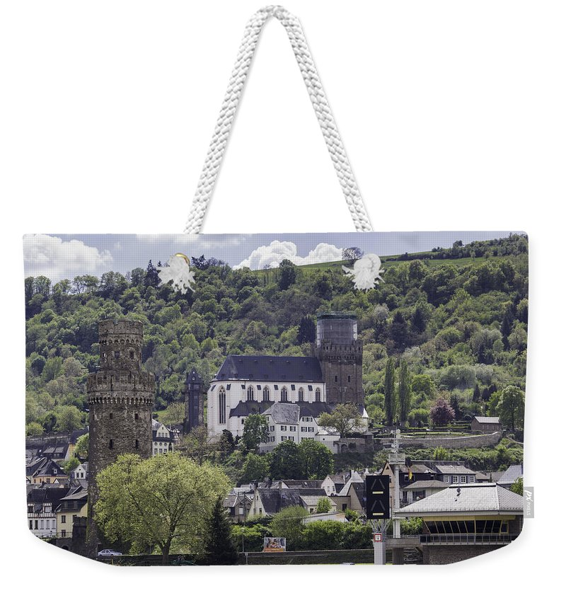 Oberwesel Weekender Tote Bag featuring the photograph Oberwesel Old And New by Teresa Mucha