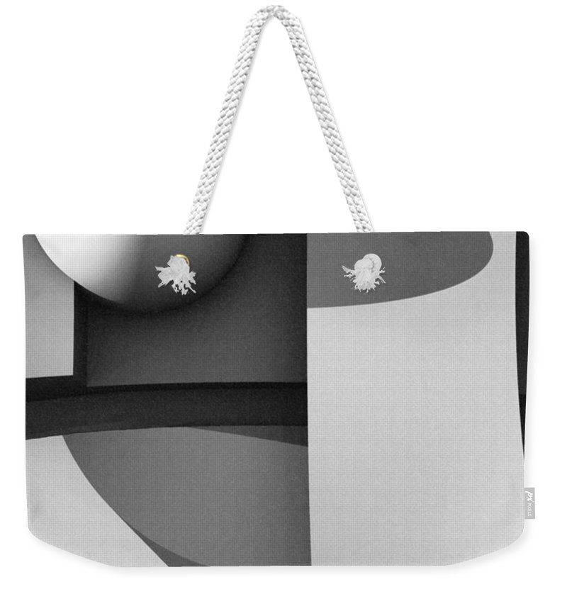Abstract Weekender Tote Bag featuring the digital art Obscured Relations by Richard Rizzo