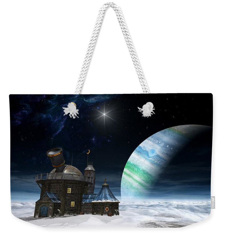 Space Weekender Tote Bag featuring the digital art Observatory by Cynthia Decker