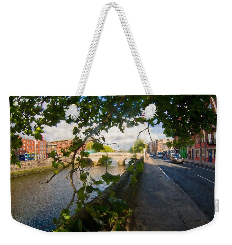 Dublin Weekender Tote Bag featuring the photograph Observer Under The Tree by Alex Art and Photo