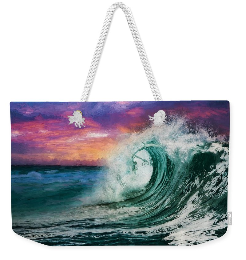 Abstract Weekender Tote Bag featuring the digital art Observing The Profound Vista by Don DePaola