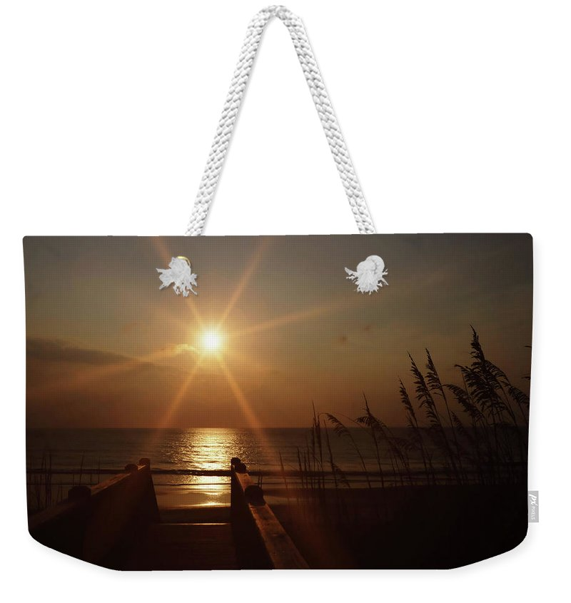 Beach Weekender Tote Bag featuring the photograph Obx Sunrise by JAMART Photography