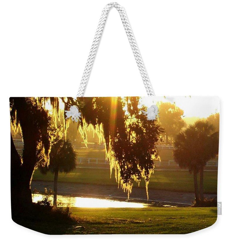 Sunset Weekender Tote Bag featuring the photograph Ocala Sunset by Kristen Wesch