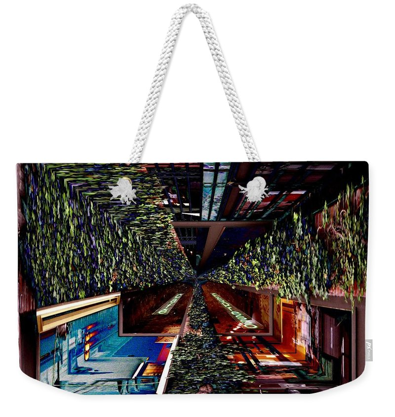Seattle Weekender Tote Bag featuring the photograph Occidental Park Cafe by Tim Allen