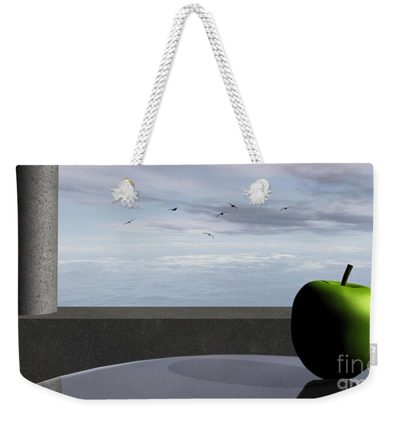 Modern Weekender Tote Bag featuring the digital art Ocean Balcony by Richard Rizzo