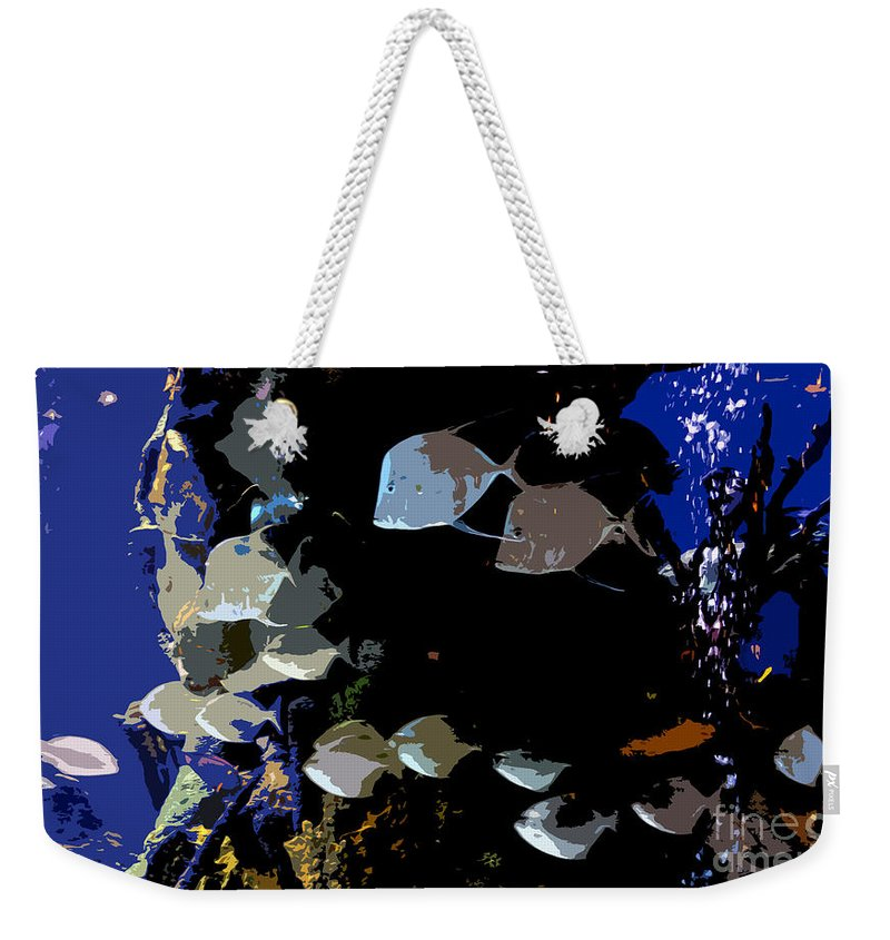 Ocean Weekender Tote Bag featuring the painting Ocean Blue by David Lee Thompson