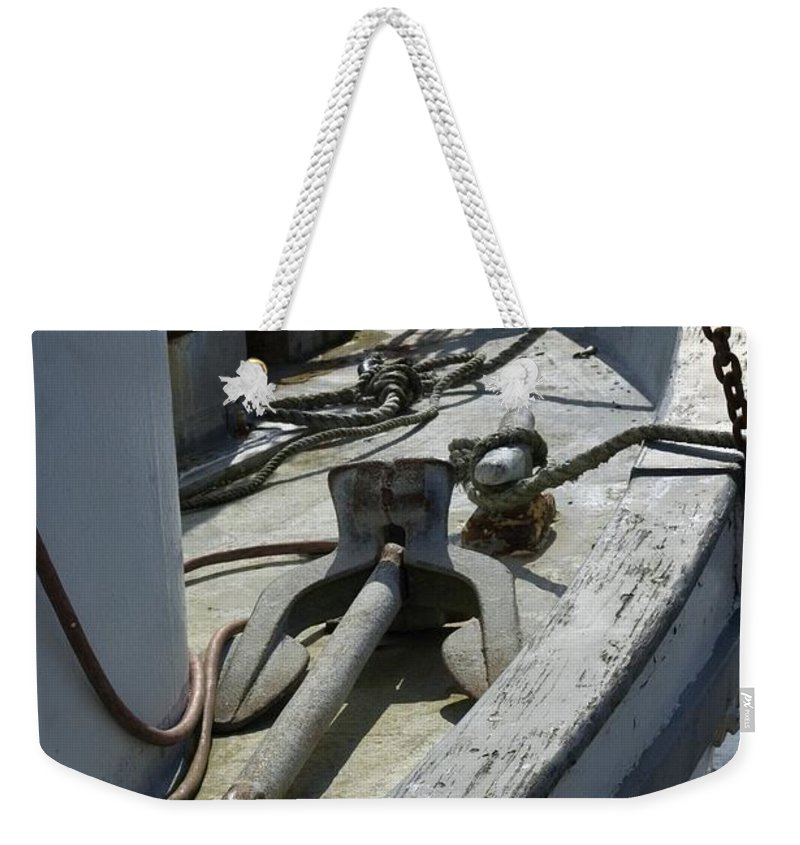 Anchor Weekender Tote Bag featuring the photograph Ocean Bow by Sara Stevenson