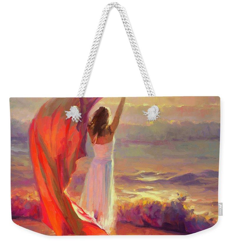 Ocean Weekender Tote Bag featuring the painting Ocean Breeze by Steve Henderson