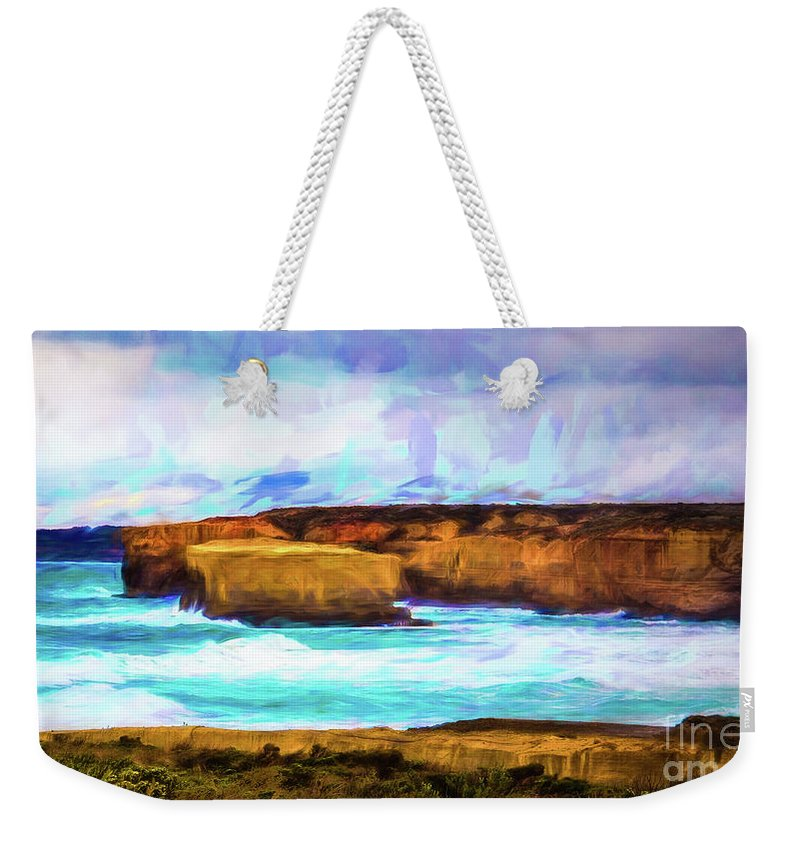 Ocean Weekender Tote Bag featuring the photograph Ocean Cliffs by Perry Webster
