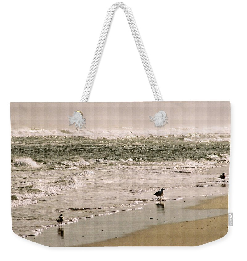 Seascape Weekender Tote Bag featuring the photograph Ocean Edge by Steve Karol