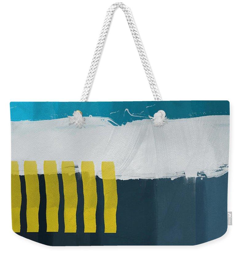 Beach Weekender Tote Bag featuring the painting Ocean Front Walk 2- Art By Linda Woods by Linda Woods