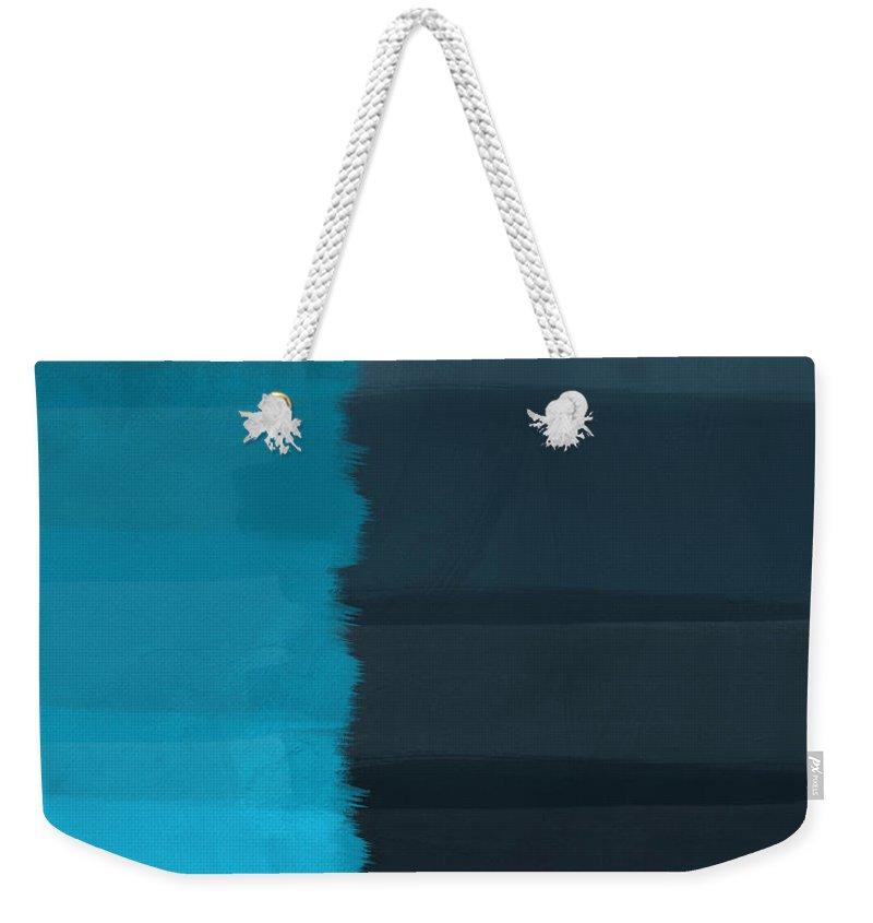 Ocean Weekender Tote Bag featuring the painting Ocean Front Walk- Art by Linda Woods by Linda Woods