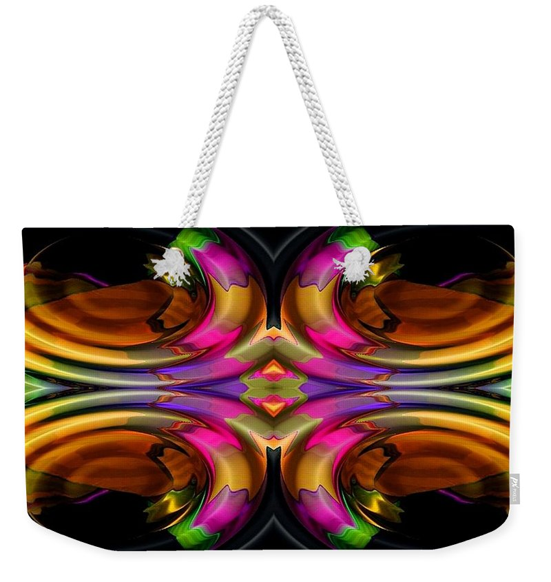 Colorful Weekender Tote Bag featuring the digital art Ocean Grove by Robert Orinski