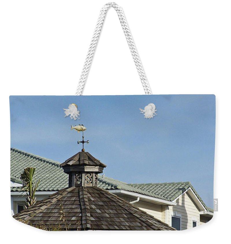 Ocean Weekender Tote Bag featuring the photograph Ocean Isle Fish Weathervane by Teresa Mucha