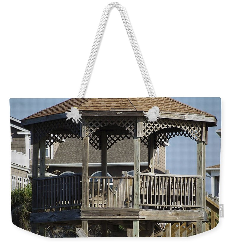 Ocean Weekender Tote Bag featuring the photograph Ocean Isle Pig Weathervane by Teresa Mucha