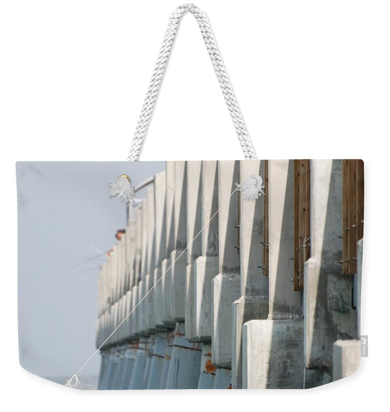 Fishing Weekender Tote Bag featuring the photograph Ocean Pier by Rob Hans