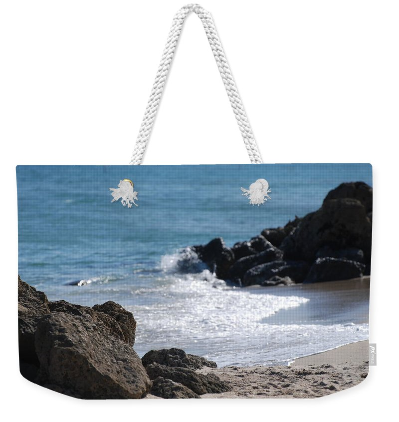 Sea Scape Weekender Tote Bag featuring the photograph Ocean Rocks by Rob Hans