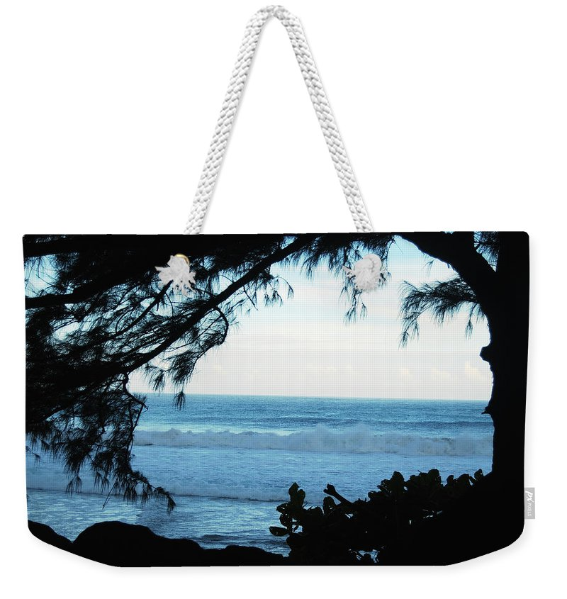 Hawaii Weekender Tote Bag featuring the photograph Ocean Silhouette by Michael Peychich