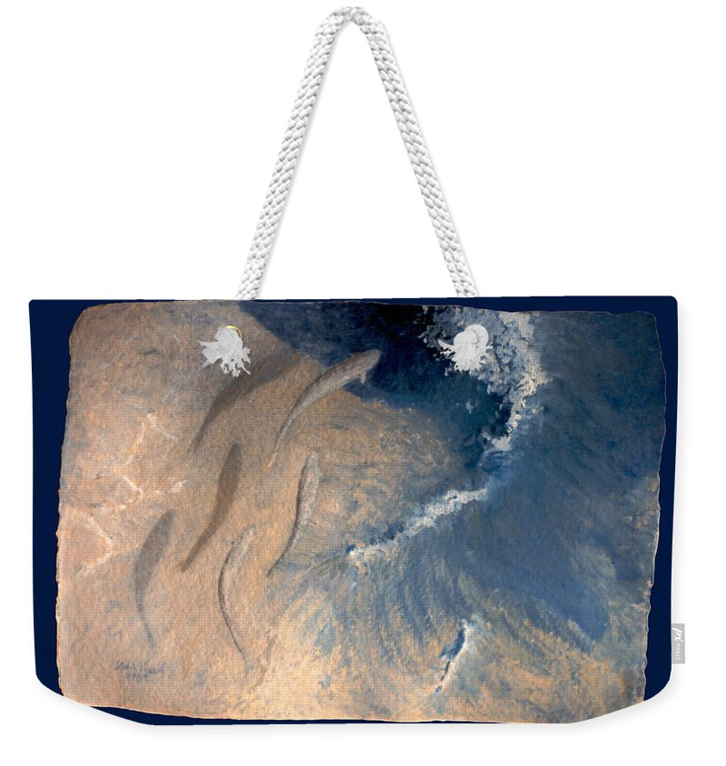 Seascape Weekender Tote Bag featuring the painting Ocean by Steve Karol