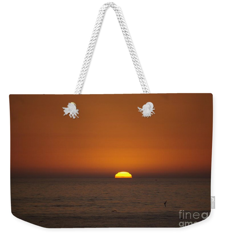 Ocean Weekender Tote Bag featuring the photograph Ocean Sunset by Jim And Emily Bush