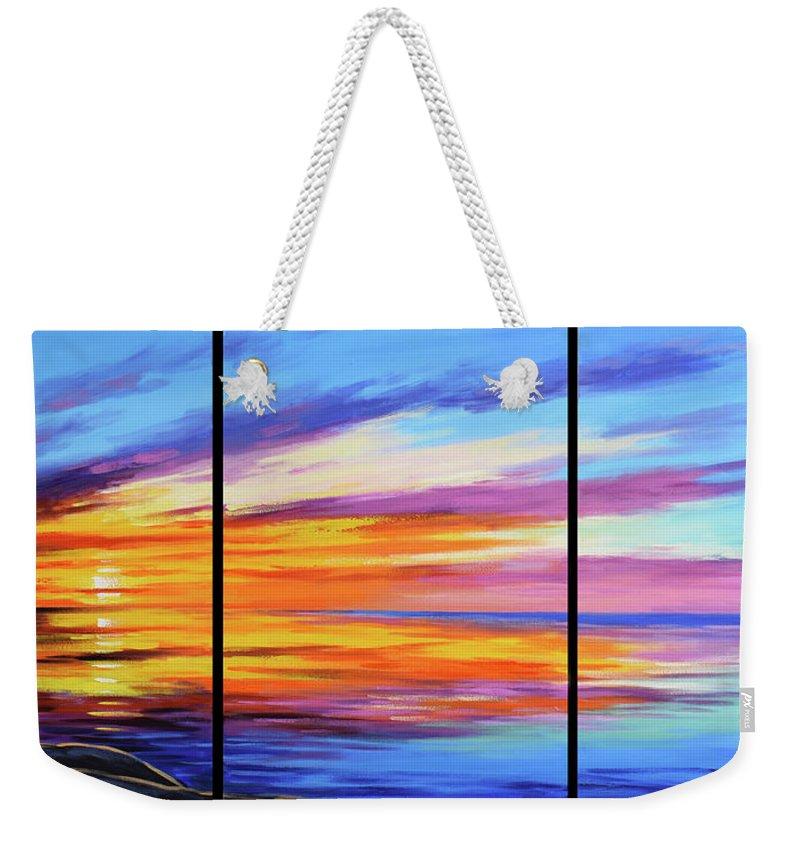 Ocean Sunset Paintings Weekender Tote Bags